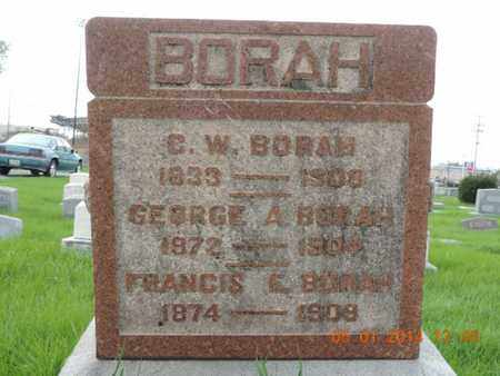 BORAH, GEORGE A - Franklin County, Ohio | GEORGE A BORAH - Ohio Gravestone Photos