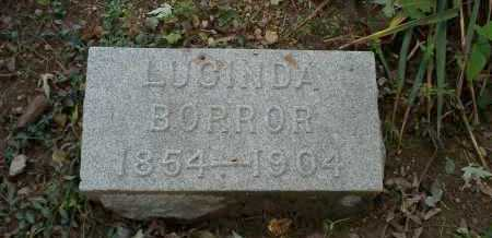 BORROR, LUCINDA - Franklin County, Ohio | LUCINDA BORROR - Ohio Gravestone Photos