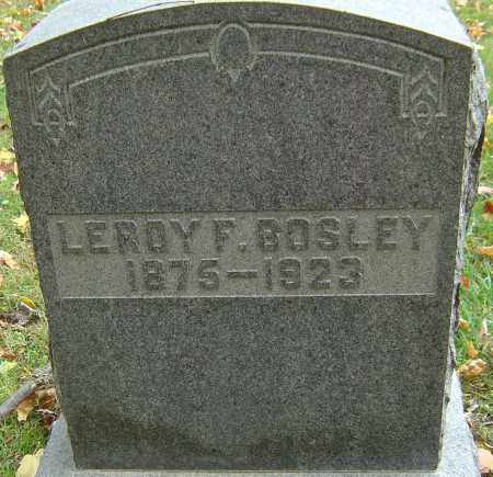 BOSLEY, LEROY F - Franklin County, Ohio | LEROY F BOSLEY - Ohio Gravestone Photos