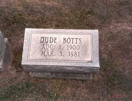 BOTTS, DUDE - Franklin County, Ohio | DUDE BOTTS - Ohio Gravestone Photos