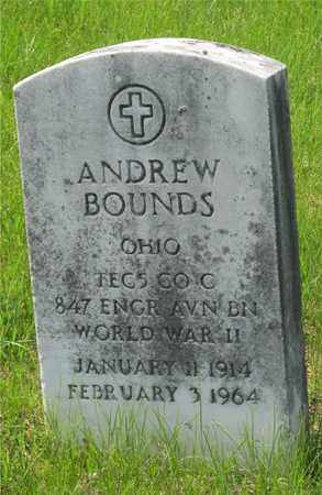 BOUNDS, ANDREW - Franklin County, Ohio | ANDREW BOUNDS - Ohio Gravestone Photos