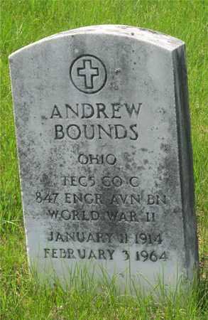 BOUNDS, ANDREW - Franklin County, Ohio | ANDREW BOUNDS - Ohio Gravestone Photos