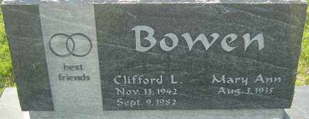 BOWEN, CLIFFORD L - Franklin County, Ohio | CLIFFORD L BOWEN - Ohio Gravestone Photos