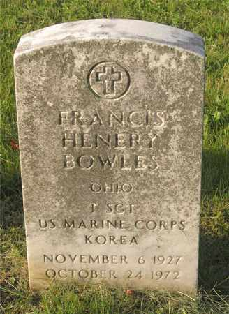 BOWLES, FRANCIS HENERY - Franklin County, Ohio | FRANCIS HENERY BOWLES - Ohio Gravestone Photos