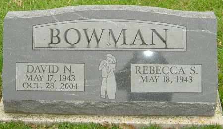 BOWMAN, DAVID N - Franklin County, Ohio | DAVID N BOWMAN - Ohio Gravestone Photos