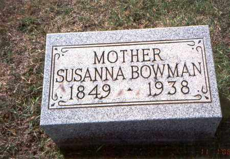 BOWMAN, SUSANNA - Franklin County, Ohio | SUSANNA BOWMAN - Ohio Gravestone Photos