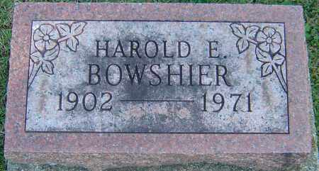 BOWSHIER, HAROLD E - Franklin County, Ohio | HAROLD E BOWSHIER - Ohio Gravestone Photos