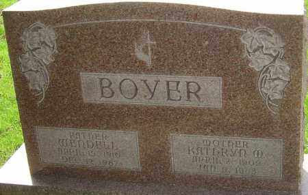 BOYER, WENDELL - Franklin County, Ohio | WENDELL BOYER - Ohio Gravestone Photos