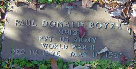 BOYER, PAUL DONALD - Franklin County, Ohio | PAUL DONALD BOYER - Ohio Gravestone Photos