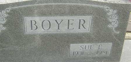 BOYER, SUE E - Franklin County, Ohio | SUE E BOYER - Ohio Gravestone Photos