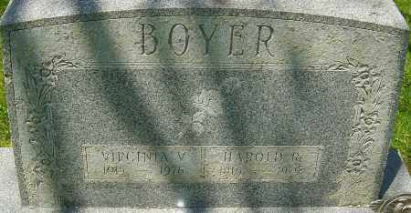 BOYER, VIRGINIA V - Franklin County, Ohio | VIRGINIA V BOYER - Ohio Gravestone Photos
