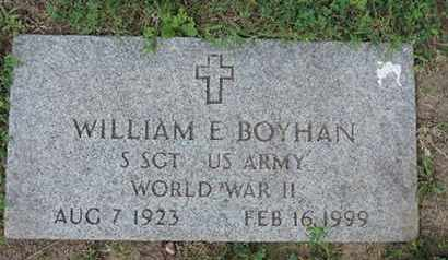BOYHAN, WILLIAM E. - Franklin County, Ohio | WILLIAM E. BOYHAN - Ohio Gravestone Photos