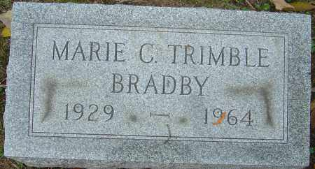 TRIMBLE BRADBY, MARIE CATHERINE - Franklin County, Ohio | MARIE CATHERINE TRIMBLE BRADBY - Ohio Gravestone Photos