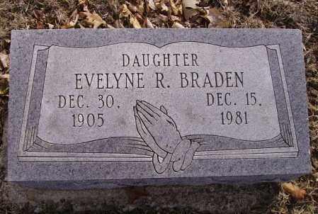BRADEN, EVELYNE R. - Franklin County, Ohio | EVELYNE R. BRADEN - Ohio Gravestone Photos