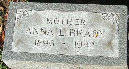 BRADY, ANNA L - Franklin County, Ohio | ANNA L BRADY - Ohio Gravestone Photos