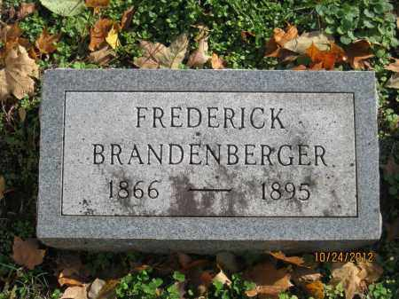 BRANDENBERGER, FREDERICK KARL - Franklin County, Ohio | FREDERICK KARL BRANDENBERGER - Ohio Gravestone Photos