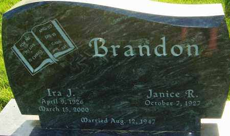 BRANDON, IRA J - Franklin County, Ohio | IRA J BRANDON - Ohio Gravestone Photos