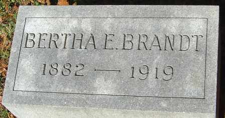LININGER BRANDT, BERTHA E - Franklin County, Ohio | BERTHA E LININGER BRANDT - Ohio Gravestone Photos