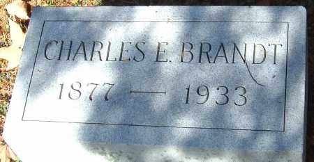 BRANDT, CHARLES E - Franklin County, Ohio | CHARLES E BRANDT - Ohio Gravestone Photos
