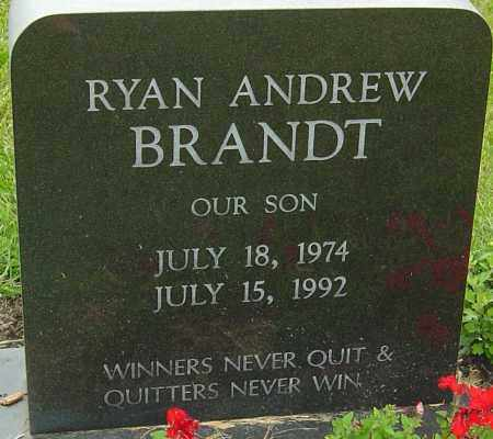 BRANDT, RYAN ANDREW - Franklin County, Ohio | RYAN ANDREW BRANDT - Ohio Gravestone Photos