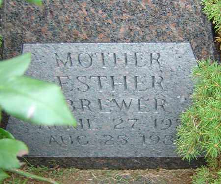 BREWER, ESTHER - Franklin County, Ohio | ESTHER BREWER - Ohio Gravestone Photos
