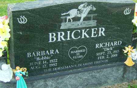 BRICKER, BARBARA - Franklin County, Ohio | BARBARA BRICKER - Ohio Gravestone Photos