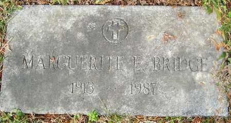 BRIDGE, MARGUERITE E - Franklin County, Ohio | MARGUERITE E BRIDGE - Ohio Gravestone Photos