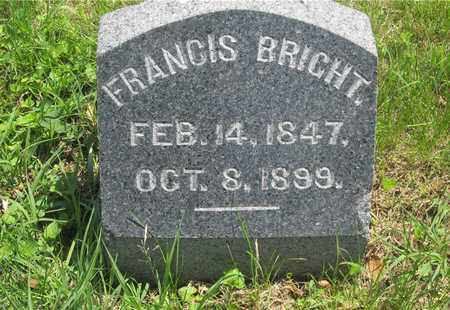 BRIGHT, FRANCIS - Franklin County, Ohio | FRANCIS BRIGHT - Ohio Gravestone Photos