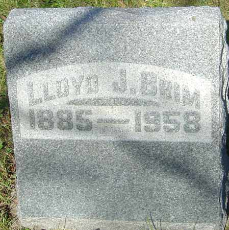 BRIM, LLOYD JAMES - Franklin County, Ohio | LLOYD JAMES BRIM - Ohio Gravestone Photos
