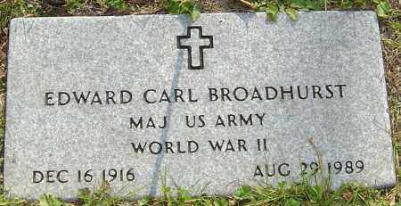BROADHURST, EDWARD - Franklin County, Ohio | EDWARD BROADHURST - Ohio Gravestone Photos