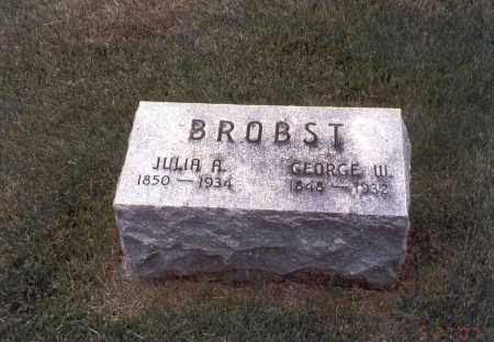 BROBST, GEORGE W. - Franklin County, Ohio | GEORGE W. BROBST - Ohio Gravestone Photos
