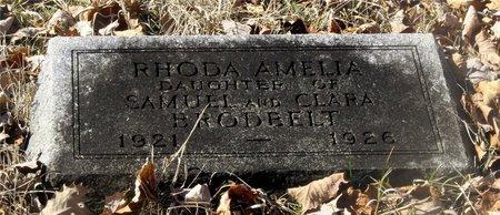 BRODBELT, RHODA AMELIA - Franklin County, Ohio | RHODA AMELIA BRODBELT - Ohio Gravestone Photos