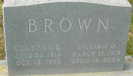BROWN, LILLIAN D - Franklin County, Ohio | LILLIAN D BROWN - Ohio Gravestone Photos