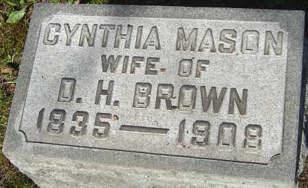 MASON BROWN, CYNTHIA - Franklin County, Ohio | CYNTHIA MASON BROWN - Ohio Gravestone Photos