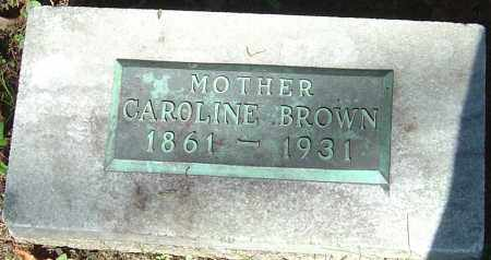 ROLLER BROWN, CAROLINE - Franklin County, Ohio | CAROLINE ROLLER BROWN - Ohio Gravestone Photos