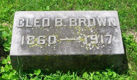 BROWN, CLEO B. - Franklin County, Ohio | CLEO B. BROWN - Ohio Gravestone Photos