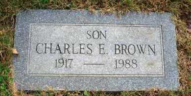 BROWN, CHARLES E. - Franklin County, Ohio | CHARLES E. BROWN - Ohio Gravestone Photos