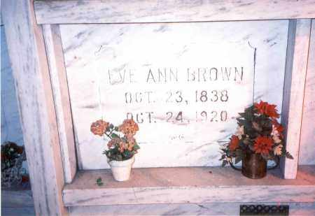 PANNEBAKER BROWN, EVE ANN - Franklin County, Ohio | EVE ANN PANNEBAKER BROWN - Ohio Gravestone Photos
