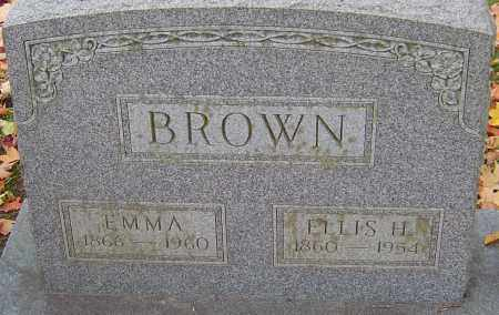 BROWN, ELLIS H - Franklin County, Ohio | ELLIS H BROWN - Ohio Gravestone Photos
