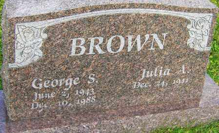 BROWN, GEORGE S - Franklin County, Ohio | GEORGE S BROWN - Ohio Gravestone Photos