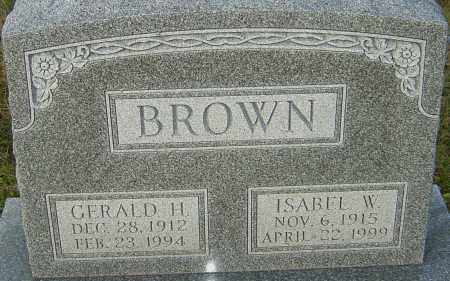 WILLIAMS BROWN, ISABEL - Franklin County, Ohio | ISABEL WILLIAMS BROWN - Ohio Gravestone Photos