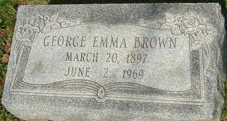 BROWN, GEORGE EMMA - Franklin County, Ohio | GEORGE EMMA BROWN - Ohio Gravestone Photos