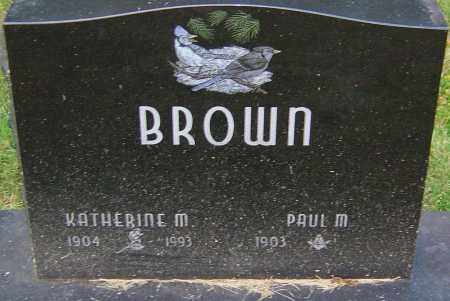 BROWN, KATHERINE M - Franklin County, Ohio | KATHERINE M BROWN - Ohio Gravestone Photos
