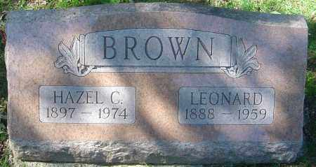BROWN, LEONARD - Franklin County, Ohio | LEONARD BROWN - Ohio Gravestone Photos