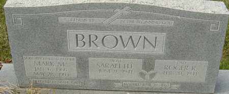 BROWN, MARK M - Franklin County, Ohio | MARK M BROWN - Ohio Gravestone Photos