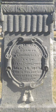 BROWN, T. M. - Franklin County, Ohio | T. M. BROWN - Ohio Gravestone Photos