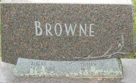 BROWNE, ALBERT - Franklin County, Ohio | ALBERT BROWNE - Ohio Gravestone Photos