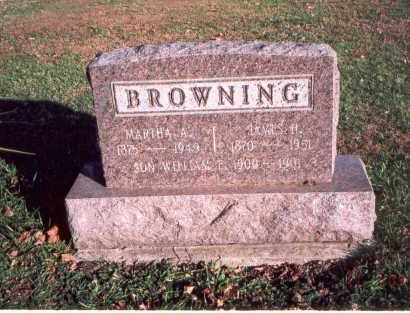 BROWNING, MARTHA A. - Franklin County, Ohio | MARTHA A. BROWNING - Ohio Gravestone Photos