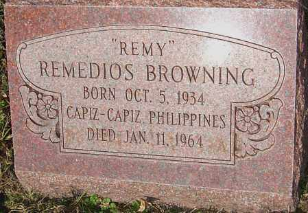 BROWNING, REMEDIOS - Franklin County, Ohio | REMEDIOS BROWNING - Ohio Gravestone Photos