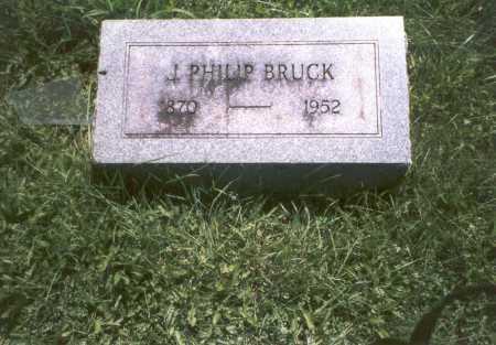 BRUCK, J. PHILIP - Franklin County, Ohio | J. PHILIP BRUCK - Ohio Gravestone Photos